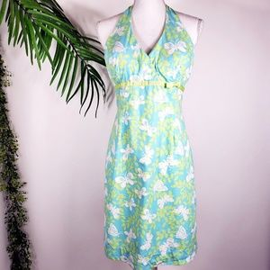 Lilly Pulitzer Air Show Halter Dress Aqua Size 8